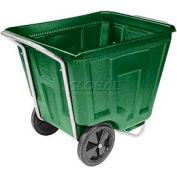 Akro-Mils® 76460 Low Profile Green 60 Gallon Tilt Cart Without Lid