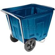 Akro-Mils® 76490 Low Profile Blue 90 Gallon Tilt Cart Without Lid