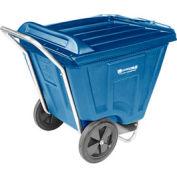 Akro-Mils® 76491 Low Profile Blue 90 Gallon Tilt Cart With Lid