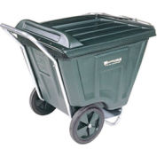 Akro-Mils® 76491 Low Profile Green 90 Gallon Tilt Cart With Lid