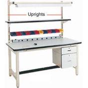 "48""H Workbench Uprights - Beige for Pro-Line Workbench"