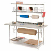 Packing Workbench & Riser With 3 Shelves