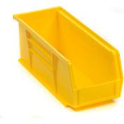 "Akro-Mils AkroBin® Plastic Stacking Bin 30224 - 4-1/8""W x 10-7/8""D x 4""H, Yellow - Pkg Qty 12"