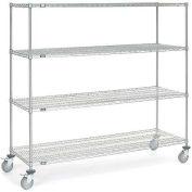 Nexel® Chrome Wire Shelf Truck 72x24x69 1200 Pound Capacity