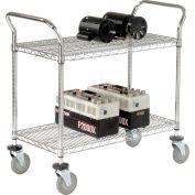 "Nexel® Wire Utility Cart 36""L x 24""W 2 Shelves 800 Lb. Capacity"