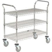 Nexel® Wire Utility Cart 48x24 3 Shelves 800 Lb. Capacity