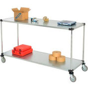 Nexel® Adjustable Solid Galvanized Shelf Cart 72x24 2 Shelves 800 Lb. Cap