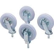 "Nexel® Stem Casters Set of (4) 8"" x 2.80"" Full Pneumatic 1000 Lb. Cap."