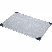 """Nexel S2448SZ Solid Galvanized Shelf 48""""W x 24""""D with Sleeves"""