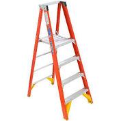 Werner 6' Fiberglass Platform Step Ladder 300 lb. Cap - P6206