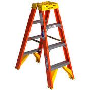 Werner 4' Dual Access Fiberglass Step Ladder 300 lb. Cap - T6204