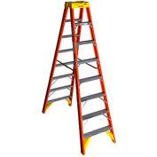 Werner 8' Dual Access Fiberglass Step Ladder 300 lb. Cap - T6208