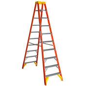 Werner 10' Dual Access Fiberglass Step Ladder 300 lb. Cap - T6210