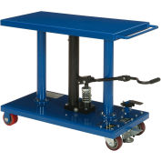 Work Positioning Post Lift Table Foot Control 1000 Lb. Capacity