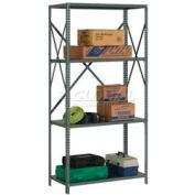 "Steel Shelving 20 Ga 48""Wx12""Dx73""H Open Clip Style 4 Shelf"