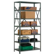 "Steel Shelving 20 Ga 36""Wx18""Dx73""H Open Clip Style 7 Shelf"