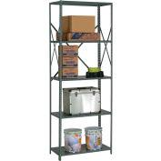 "Steel Shelving 20 Ga 36""Wx12""Dx97""H Open Clip Style 5 Shelf"