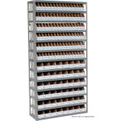 Steel Open Shelving 13 Shelves No Bin - 36x12x73