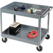 Edsal SC2016 2 Shelf Deep Tray Steel Stock Cart 30x16 500 Lb. Capacity