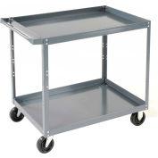 Edsal SC1801 2 Shelf Steel Stock Cart 36 x 24