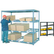 "Carton Flow Shelving Double Depth 4 LEVEL 96""W x 96""D x 84""H"
