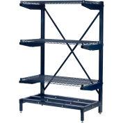 Corrosion Resistant Cantilever Rack - Adjustable Width Uprights & Frame (Only)