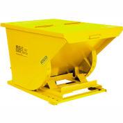 Wright 10099 1 Cu Yd Yellow HD Self Dumping Forklift Hopper, Heavy Gauge Base
