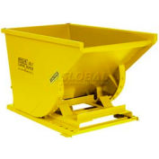 Wright 50099 5 Cu Yd Yellow HD Self Dumping Forklift Hopper with Heavy Gauge Base