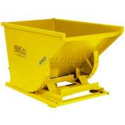 Wright 50099 5 Cu Yd Yellow HD Self Dumping Forklift Hopper, Heavy Gauge Base