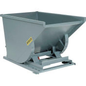 Wright™ 7599 3/4 Cu Yd Gray HD Self Dumping Forklift Hopper with Heavy Gauge Base