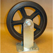 """Rubber Casters 8"""" x 2"""" (2 Swivel, 2 Rigid) for Wright Self-Dumping & Low Profile Hoppers"""