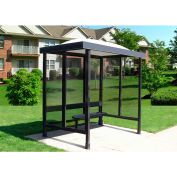 """Smoking Shelter Dome Roof With Three Sided Open Front 7'6"""" X 5'"""