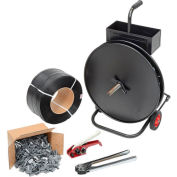 "Polypropylene Strapping Kit 1/2"" x 9000' With Tensioner, Crimper, Seals & Cart"