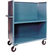 Jamco Package Truck FB248 3 Enclosed Sides & Middle Shelf 48x24 1200 Lb. Cap.