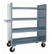 Jamco Package Truck DD248 with 4 Shelves 48x24 1200 Lb. Cap.