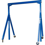 Vestil Steel Gantry Crane AHS-2-15-14 Adjustable Height 2000 Lb. Capacity