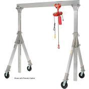 Aluminum Gantry Crane AHA-15-8-10-PNU Adj. Ht. Pneumatic Casters 1500 Lb.