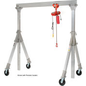 Vestil Aluminum Gantry Crane AHA-15-10-10-PNU Adj. Ht. Pneumatic Casters 1500 Lb