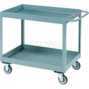 "Jamco Gray All Welded 3"" Deep Shelf Cart LT248 1200 Lb. Capacity 48x24"