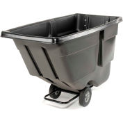 Rubbermaid® 9T18 Light Duty 1 Cu. Yd. Black Tilt Truck