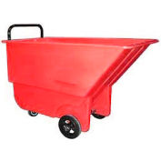 Bayhead Products Red Light Duty 1/3 Cubic Yard Tilt Truck 275 Lb. Capacity