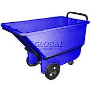 Bayhead Products Blue Heavy Duty 1/3 Cubic Yard Tilt Truck 1200 Lb. Capacity