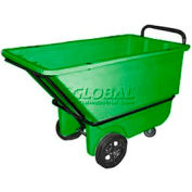 Bayhead Products Green Heavy Duty 1/3 Cubic Yard Tilt Truck 1200 Lb. Capacity