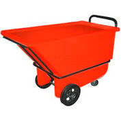 Bayhead Products Red Heavy Duty 1/3 Cubic Yard Tilt Truck 1200 Lb. Capacity