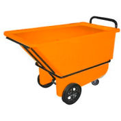 Bayhead Products Orange Heavy Duty 1/3 Cubic Yard Tilt Truck 1200 Lb. Capacity