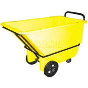 Bayhead Products Yellow Heavy Duty 1/3 Cubic Yard Tilt Truck 1200 Lb. Capacity