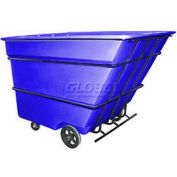 Bayhead Products Blue Heavy Duty 3 Cubic Yard Tilt Truck 2800 Lb. Capacity