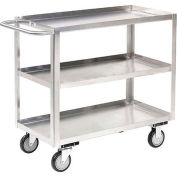 Jamco Stainless Steel Stock Cart XA130 3 Shelves Tray Top Shelf 30x18