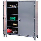 Strong Hold® Heavy Duty Double Shift Storage Cabinet 56-DS-248 - 60x24x78