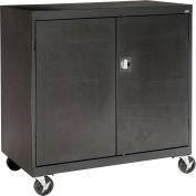 Sandusky Mobile Work Height Storage Cabinet TA11361830 Double Door - 36x18x30, Black
